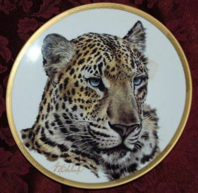 Chinese LEOPARD COLLECTABLE PLATE, Wild Animals LENOX, T12
