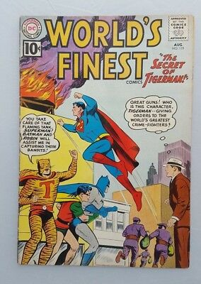 World's Finest #119 VG- Superman Batman Robin Tommy Tomorrow DC Comics 1961