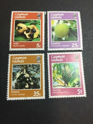 Cayman Islands 579-582 MMH OG - 5c to $1 Full Set - Fruit