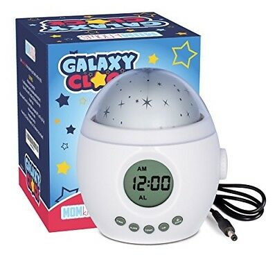 Galaxy Clock by MomKnows. Soothing Star Projector Sound Machine. Relaxing Night
