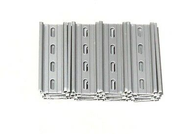 20 Pieces DIN Rail Slotted Aluminum RoHS 4 Inches Long 35mm 7.5mm 6.7 Feet Total