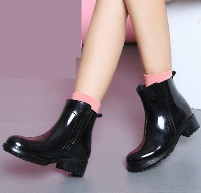 12abaac0d New Womens Waterproof Ankle Rubber Rain Boots Car wash Muck Garden Shoes