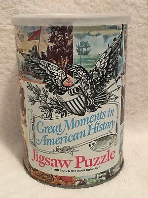 1 of 12  HUMBLE OIL GREAT MOMENTS IN. HISTORY CAL. GOLD RUSH 300  JIGSAW PUZZLE