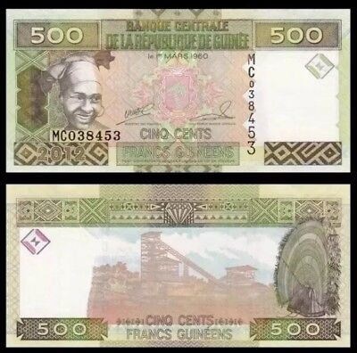 GUINEA 500 Francs, 2006, P-39b, UNC World Currency