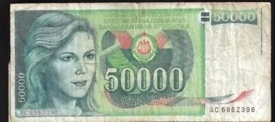 YUGOSLAVIA 50,000 (50000) Dinara, 1988, P-96, World Currency