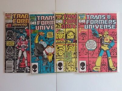 Marvel Transformers 1986 Universe 1-4 Full Set Run Lot with Free Shipping