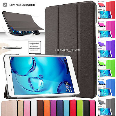 "Flip Smart Cover Folio Case Stand Tablet For Huawei MediaPad M3 Lite 10.1"" 8.0''"