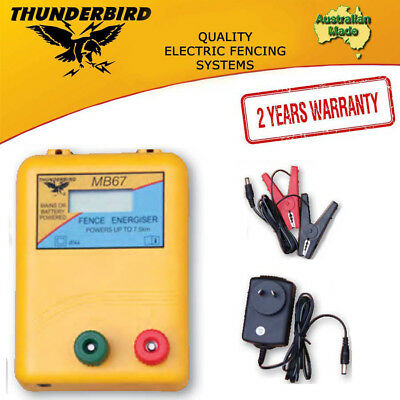 Thunderbird MB67 Mains or Battery Powered Electric Fence Energiser