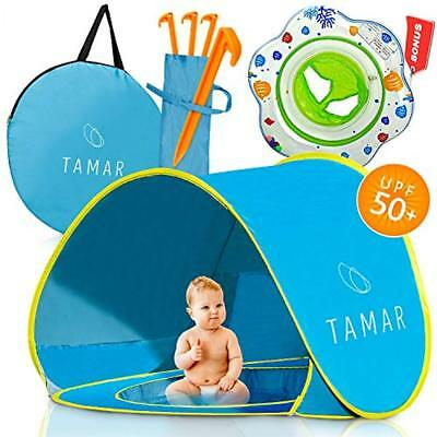 2018 Baby Beach Tent: Toddlers Tots Blue Pop-Up Sun Shelter Mini Pool Detachable