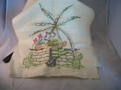 Vintage Dresser Scarf~American Thread Company~Mexican Musician and Dancer