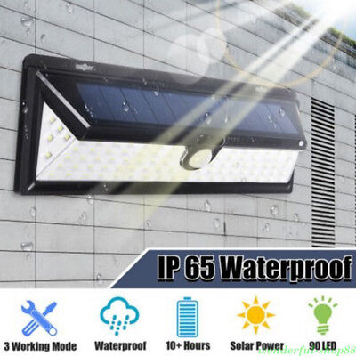Waterproof LED Solar Power Motion Sensor Wall Light Outdoor Walkway Lamp Home