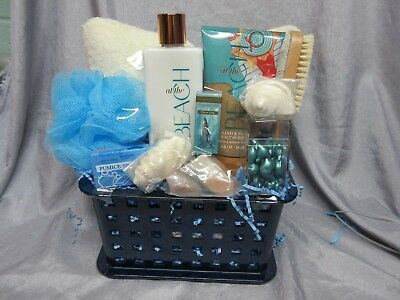 Bath & Body Works At The Beach Spa Gift Basket - Pumice,bath Pillow,lotion,soap