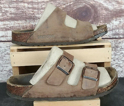 4eabef7bcbe2 Birkenstock Arizona Brown Leather Sandals Size 36 L5 Slip on Shoes Two Strap