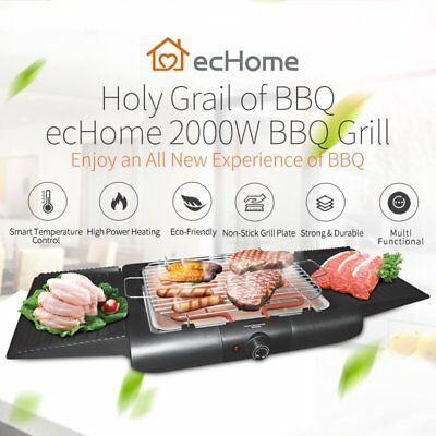 iNNOWARE 2000W Electric Griddle Grill BBQ Hot Plate Indoor Barbecue Portable
