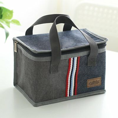 Insulated Lunch Bag Fashion Striped Bento Box Multifunction Storage Cooler Bag A