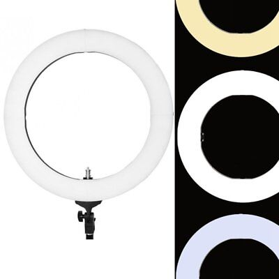 """18"""" LED Bi-Color Dimmable Photography Ring Light w/ Phone Adapter Kit Studio"""