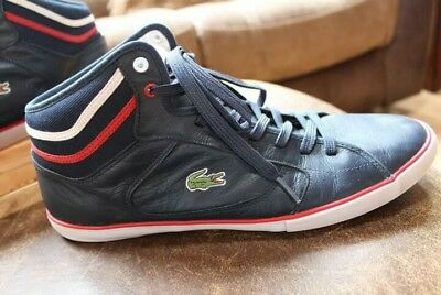 39638327109fac LACOSTE MEN S NAVY Blue (Vintage Style) Leather High Tops  Size 12 ...