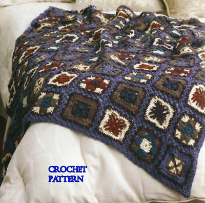 Crochet Granny Afghans Patterns Knit Aran Squares Book Home Sweet