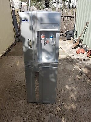 Hot & Cold floor standing water dispenser with fridge near new