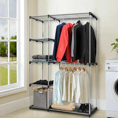 Closet Organizer Garment Rack Portable Clothes Hanger Storage Rack Home  Shelf