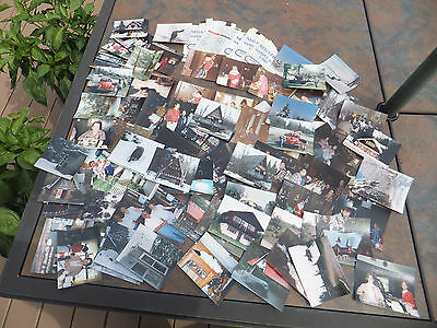 Mixed Lot of 90+ Color Photos Pictures & Negatives- Unknown Family Photographs