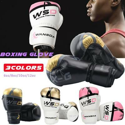 Unisex Adult Boxing Gloves MMA Muay Thai Training Sparring Punching Bag Mitts