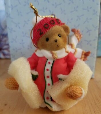 NEW Cherished Teddies - 2008 Dated Hanging Ornament - 4010090E - Girl Bear