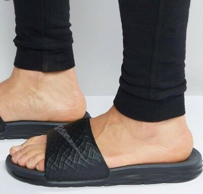 7117336ff00c00 NIKE BENASSI SOLARSOFT Slides - Black Anthracite - Men s 9  705474 ...