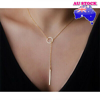 Wholesale Gold Plated Choker Charms Long Chain Pendant Necklace Fashion Jewelry