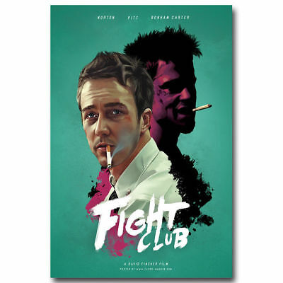 Fight Club Classic Movie Brad Pitt Art Silk Poster 8x12 24x36 24x43