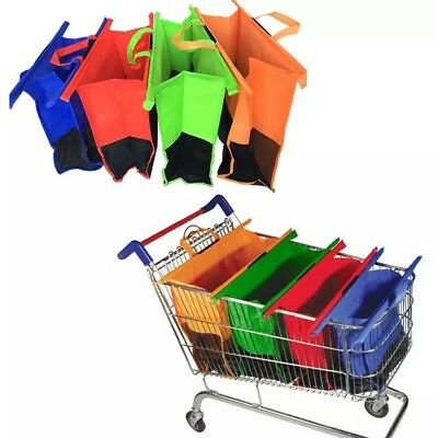 Set Of 4 Reusable Shopping Grocery Bags, Shopping cart bags, eco-friendly