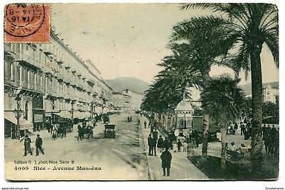 CPA-Carte postale-France - Nice - Avenue Masséna - 1904 ( CP4023 )