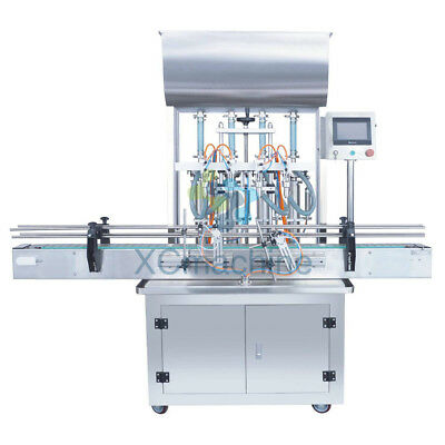 5-1000ml Automatic Four Head Paste Filling Machine with Conveyor PLC Control