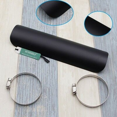 Universal Motorcycle Black Straight Exhaust Muffler Pipe Heat Shield Cover Guard