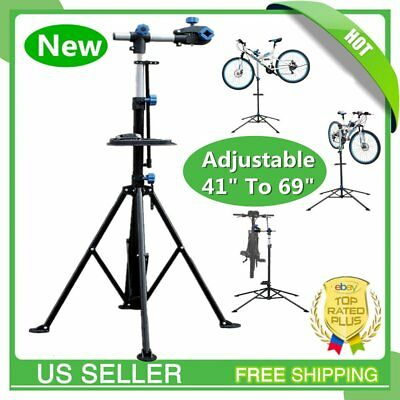 "Pro Bike Adjustable 41"" To 69'' Cycle Bicycle Rack Repair Stand w/ Tool Tray BT"