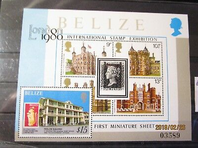 Belize Block London 1980 Mi  Nr   postfrisch