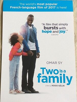 Promotional Movie Flyer *NOT A DVD* Two is a Family Stars Omar Sy