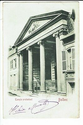 CPA-Carte postale-FRANCE -Bolbec - Temple Protestant - 1901 -S935