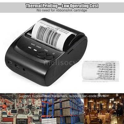 58mm Mini Portable BT 4.0 Receipt Thermal Printer f/ Android iOS Windows UK K2F8