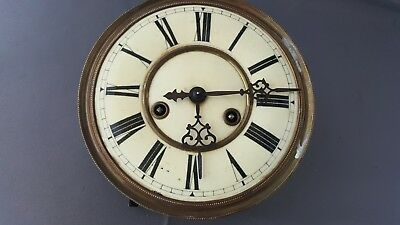 Gustav Becker parts P64 clock face , Hands & workings FREE UK P&P !!
