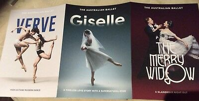 Promotional Flyer The Australian Ballet Verve, Giselle, The Merry Widow
