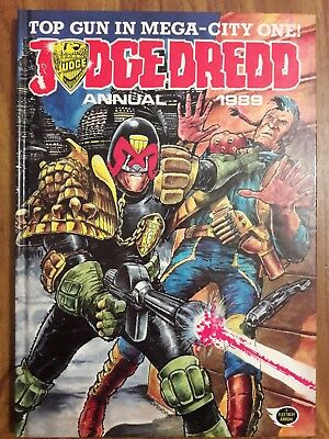 Judge Dredd 1989 Annual Book British Fleetway 2000 A.d. Excellent Condition