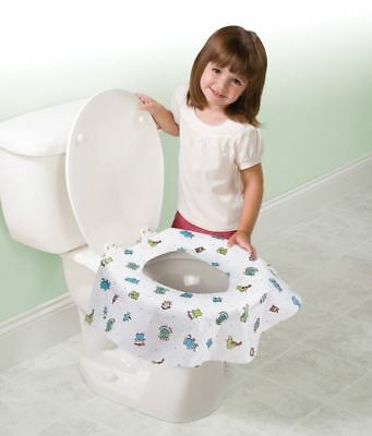 TOILET POTTY TRAINING DISPOSABLE CHILD SEAT Bathroom Protector Cover 20 pac Kid