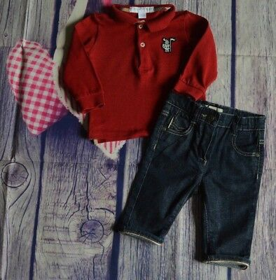 Burberry Baby Boys Designer Clothes Bundle Polo Shirt Jeans 3 Months Excellent