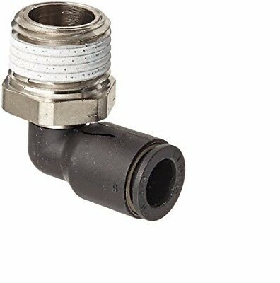 """Push-to-Connect Fitting,90 elbow for 1/4"""" Tube OD x 3/8 NPT. Set of 4"""