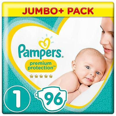 Pampers New Baby Size 1 Nappies Jumbo Pack of 96 Newborn Babies Monthly Saving 4