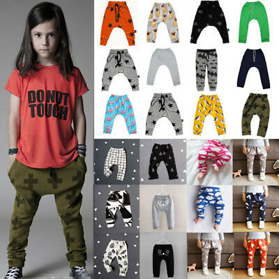 Toddler Baby Kids Boys Girls Summer Harem Pants Long Trousers Bottoms Sweatpants
