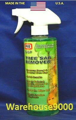 Tree Sap, Tar, Pollen, and Bug Residue Remover For Glass, Rubber, Plastic, Auto