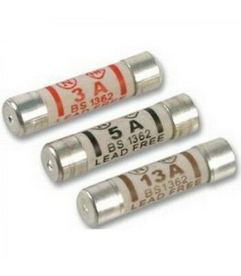 3a 5a 13a Domestic Fuses Plug Top Household Mains Cartridge Fuse - NEW