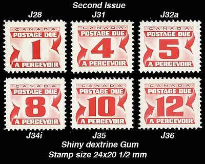 CANADA - J28-36 Postage Due (Second Issue)